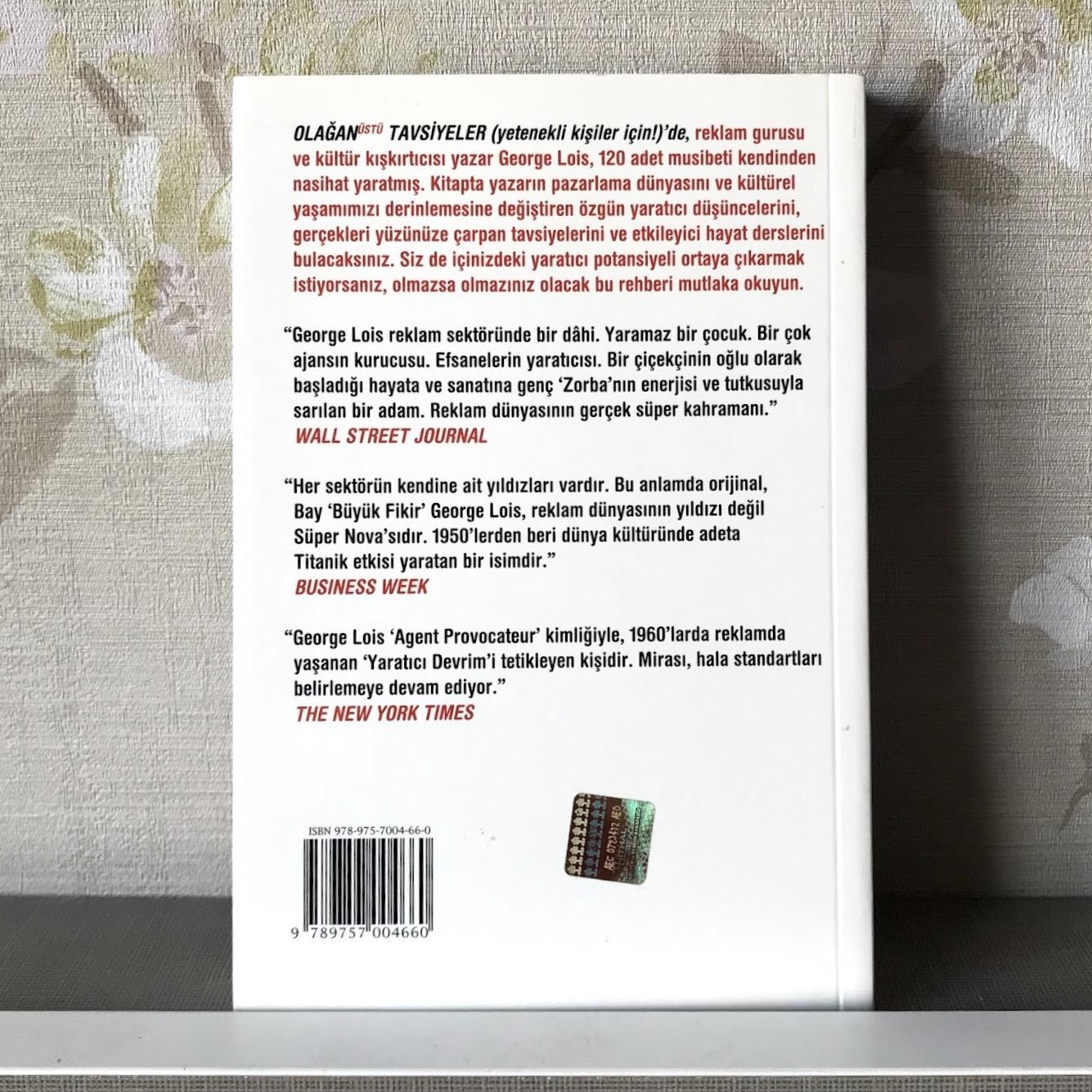Olaganustu Tavsiyeler - Yetenekli Kisiler Icin (Kitap)