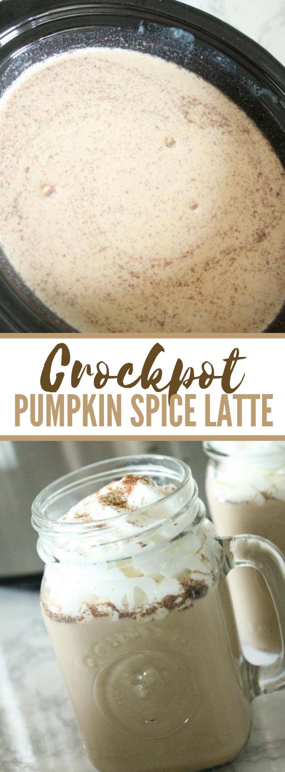 Crockpot Pumpkin Spice Latte Recipe #drinks #falldrink