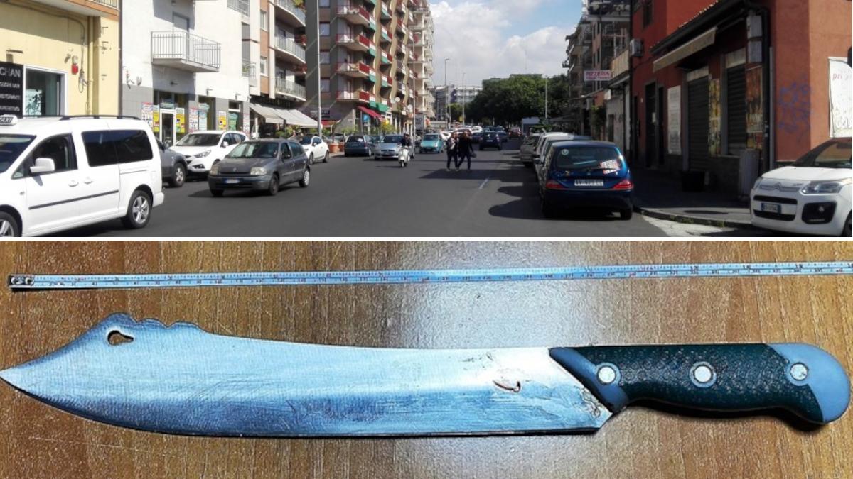 Carabinieri singalese machete via Matteo Renato Imbriani