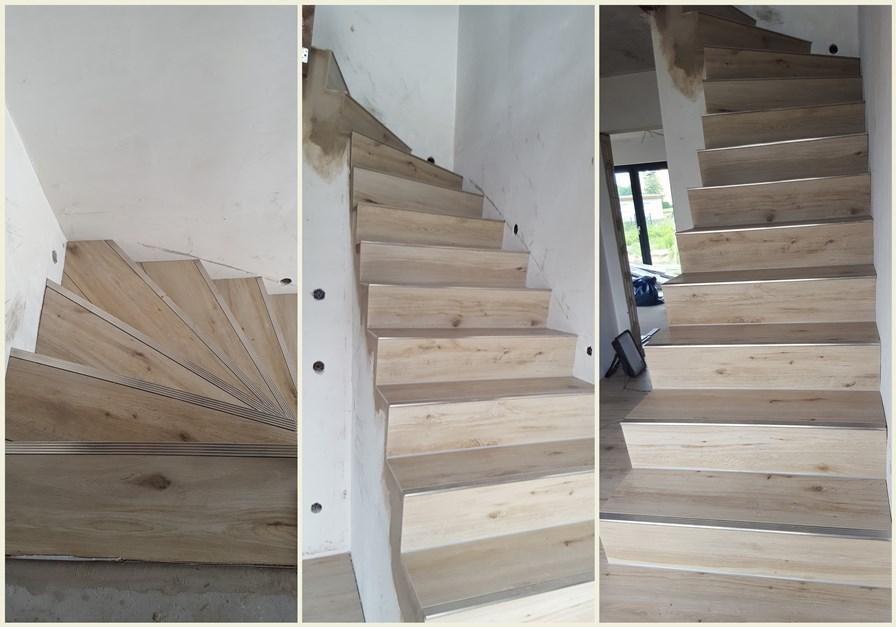 unsere stadtvilla 156 bautag fliesen die treppe. Black Bedroom Furniture Sets. Home Design Ideas