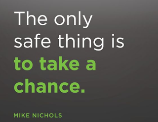 a quote by Mike  Nichols about taking chance to be freelance and get opportunity