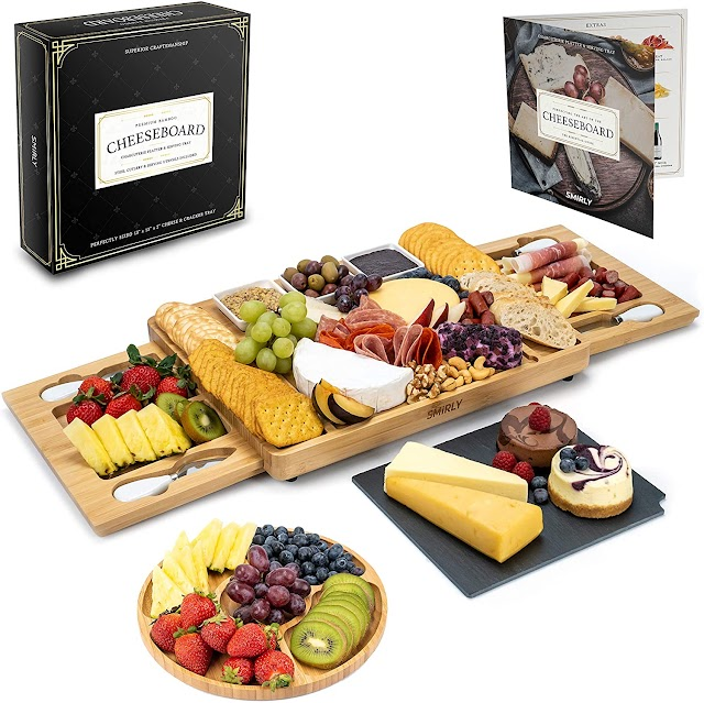 Top 3 Best Unique Bamboo Cheese Board and Knife Set