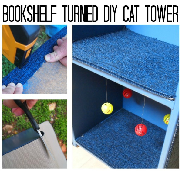 This is such an easy way to make a cat tower and I love that it doesn't make me look like a crazy cat lady!