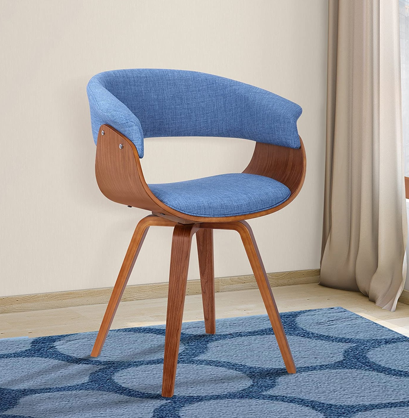 Best ideas Minimalist livingroom contemporary Chair with charcoal fabric and Walnut wood finish 2