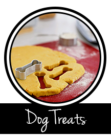 Button to dog treat and recipe page on Dalmatian DIY