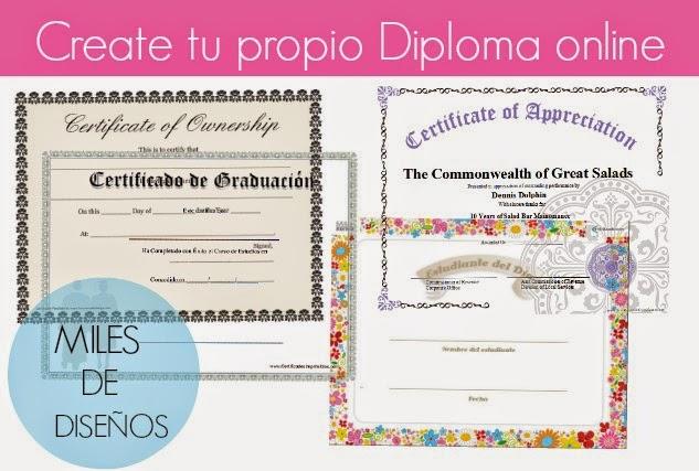 Plantillas de Diplomas, Certificados, y Titulos para Imprimir