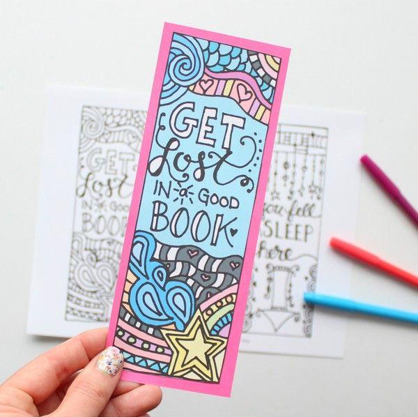 Marcador de Página para colorir