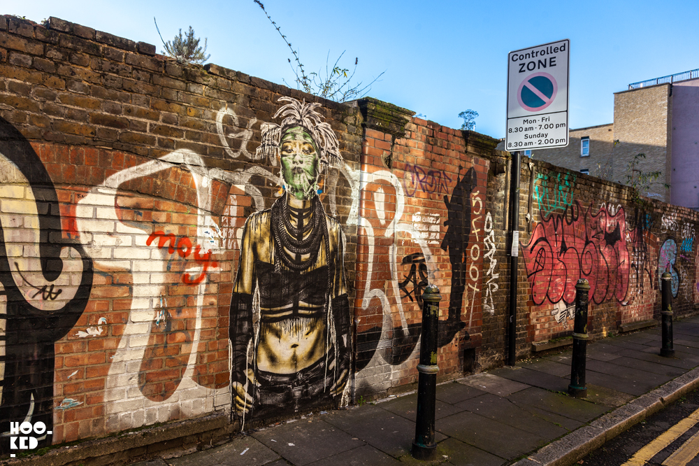 Eddie Colla, Street Art Wheatpastes in London. Photo ©Hookedblog / Mark Rigney