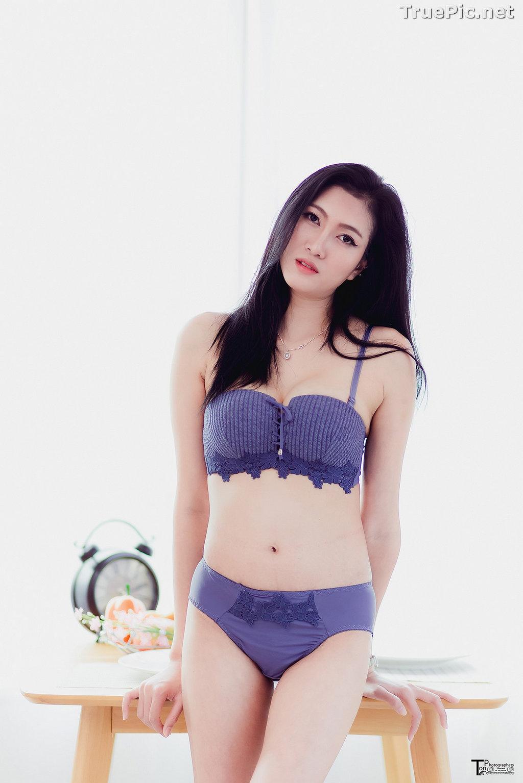 Image Thailand Model - Sawinee Boonbunlu - Sexy Blue Purple Lingerie - TruePic.net - Picture-5