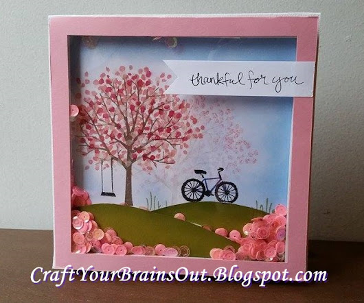 Cherry Blossom Shaker Card