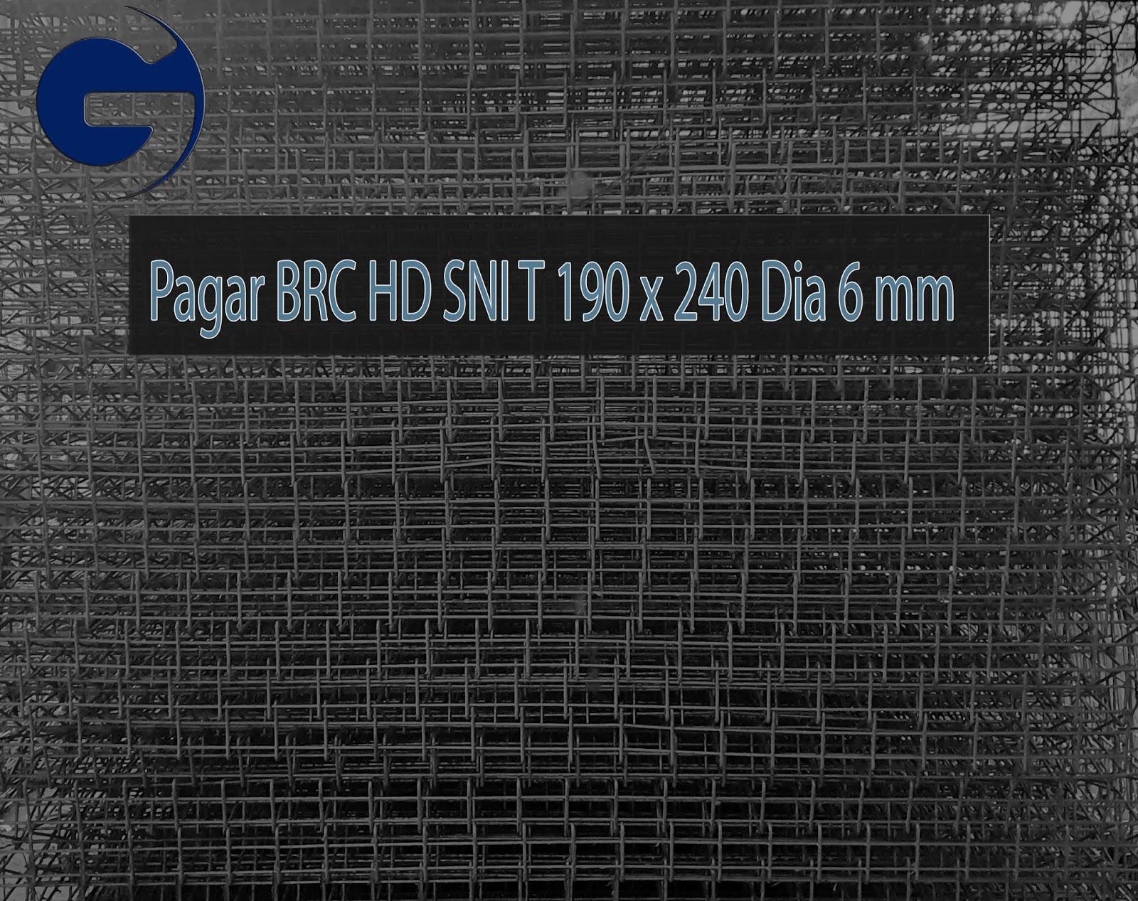 Jual pagar BRC HD SNI T 190 x 240 Dia 7 mm