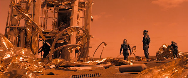 Destroyed Mars habitat from Red Planet movie