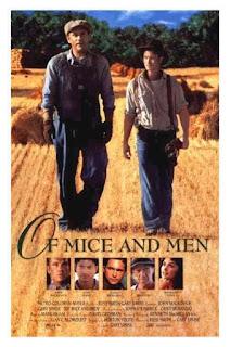 Affiche du Film Of Mice and Men, 1992, adaptation du roman par Gary Sinise