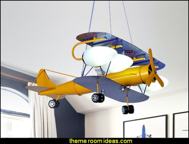 airplane hanging lamp Airplane Chandelier  Children  Airplane lighting