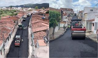 Guarabira: Ruas São Luís e Genival Braga recebem asfaltamento pela primeira vez, no São José