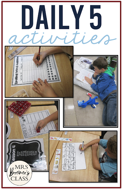 DAILY 5 Ideas and Activities for Second Grade