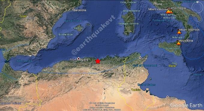 Un terremoto de magnitud 6,1 causa daños materiales en Argelia.