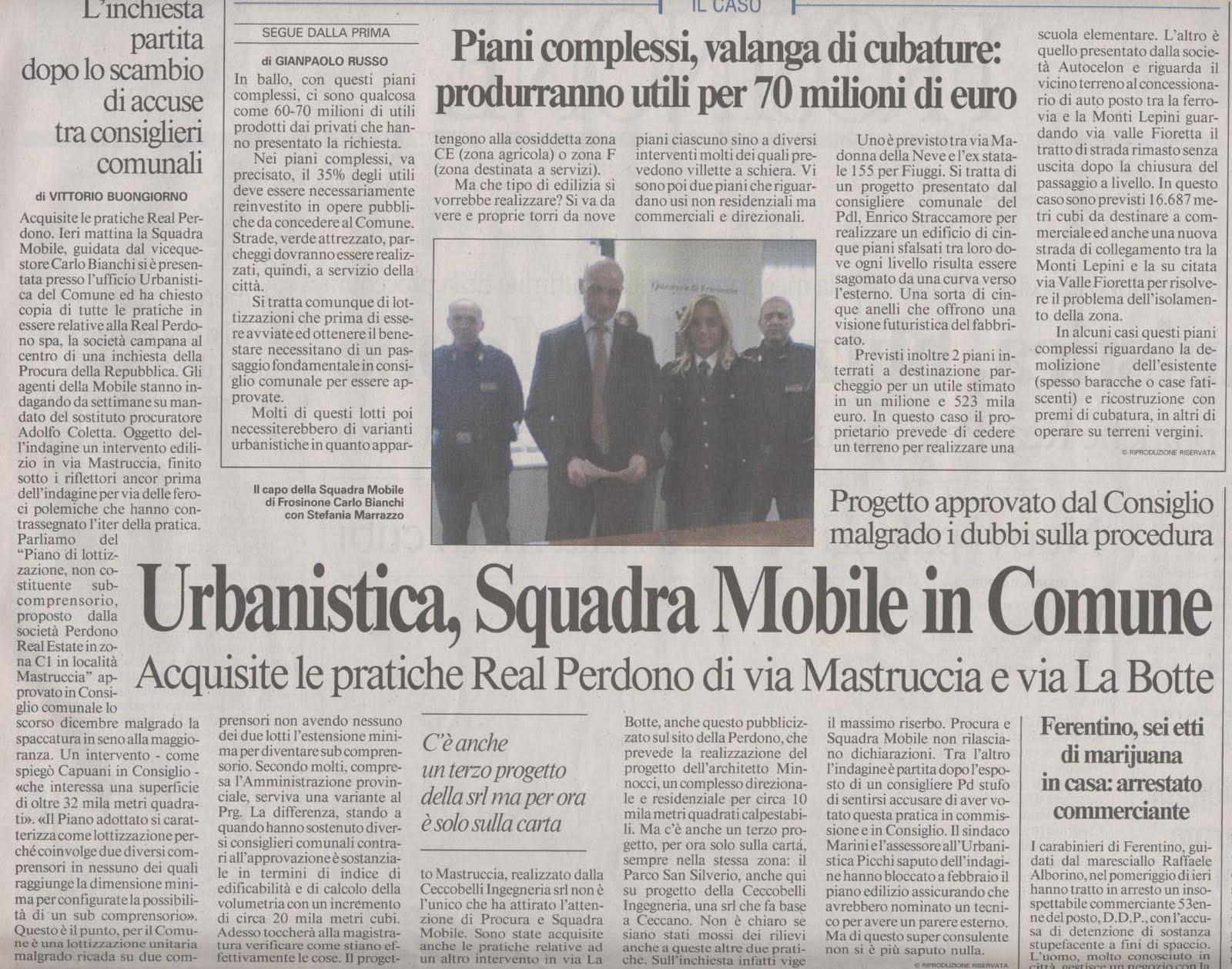 Osservatorio decoro urbano urbanistica comune di for Il mobile frosinone