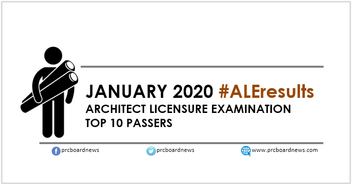 TOP 10 PASSERS: January 2020 Architect board exam ALE result