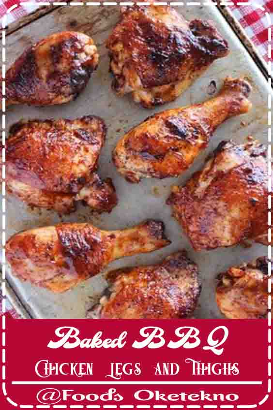 Baked Bbq Chicken Legs And Thighs Barbecue Recipes Chicken