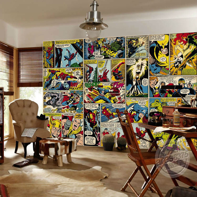 Marvel Wall Mural Comics Strip Wallpaper