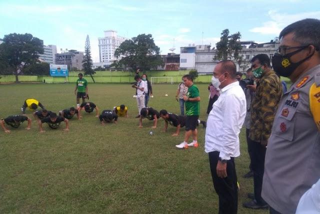Pemain PSMS Medan Dapat Motivasi dari Gubernur Sumut