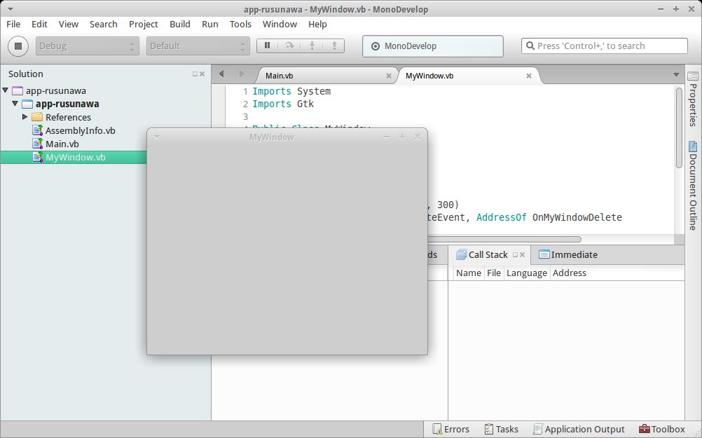 Pemrograman VB.NET di linux menggunakan MonoDevelop