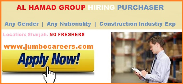 Purchase manager jobs in Dubai. Purchase manager job salary in Dubai.
