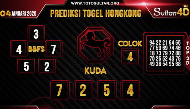 PREDIKSI TOGEL HONGKONG SULTAN4D 04 JANUARI 2020