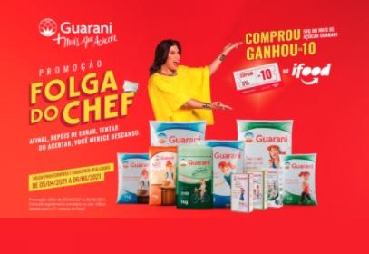 Cadastrar Promoção Folga do Chef Guarani Açúcar Desconto Ifood - Compre Ganhe
