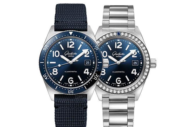 Glashütte Original SeaQ with blue dials