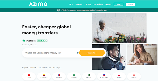 How to send money with Azimo - A step by step guide