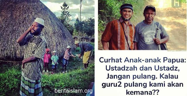 Anak-anak Papua: Ustadz Jangan Pulang