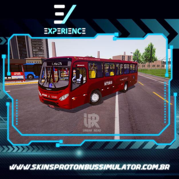 Skins Proton Bus Simulator - Marcopolo Senior Midi MB OF-1418 Viação Estrela