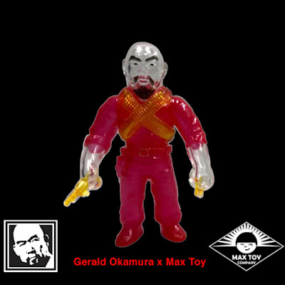 Master of Weapons Gerald Okamura Clear Red Ghost Edition Vinyl Figure by Mark Nagata & Max Toy Company