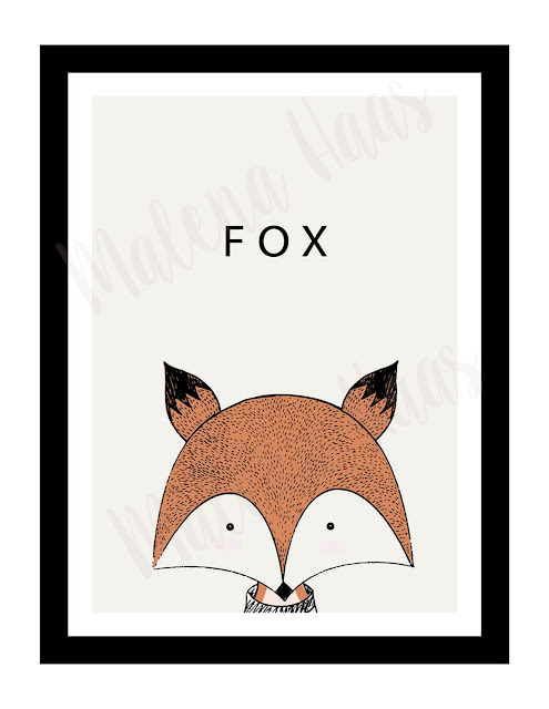 Free Woodland Animal Prints - Fox