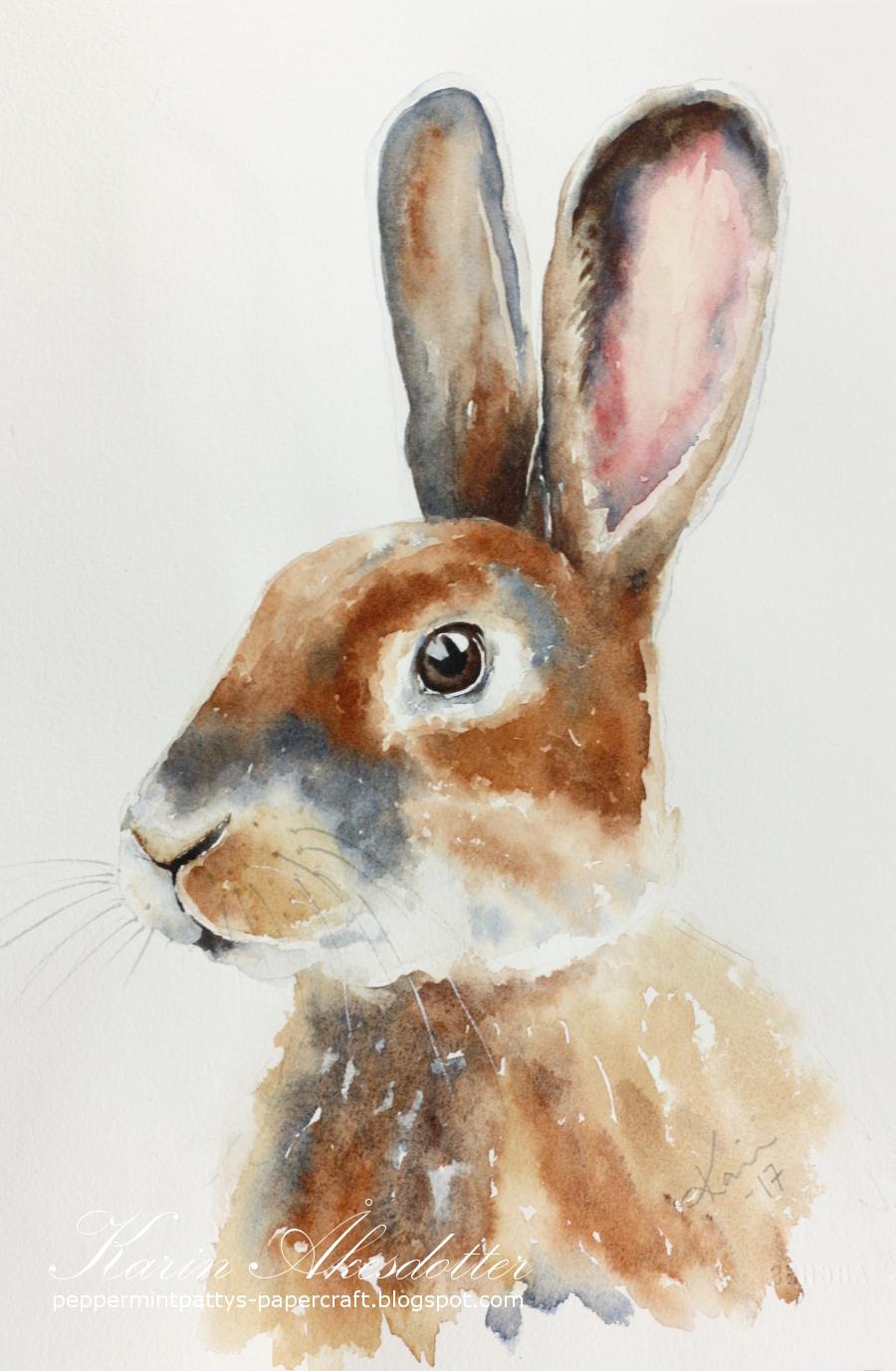Peppermint Patty S Papercraft Sunday Watercolors Rabbits
