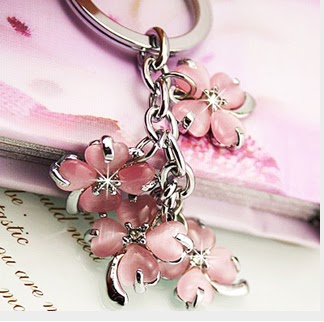 Content for keychains   This is key chain with pink colour....This chain  has a flower model with stones. 0ea1cec3cf