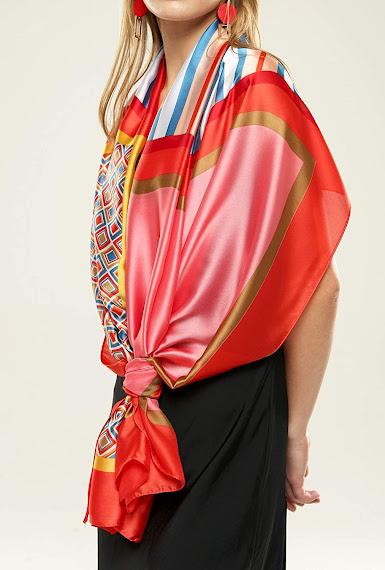 Designer Red Satin Scarves