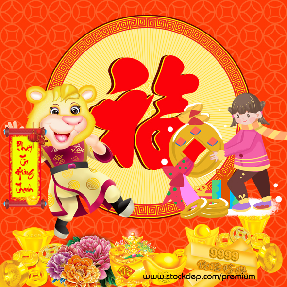 Vector – Happy Chinese new year 2022 – year of the Tiger
