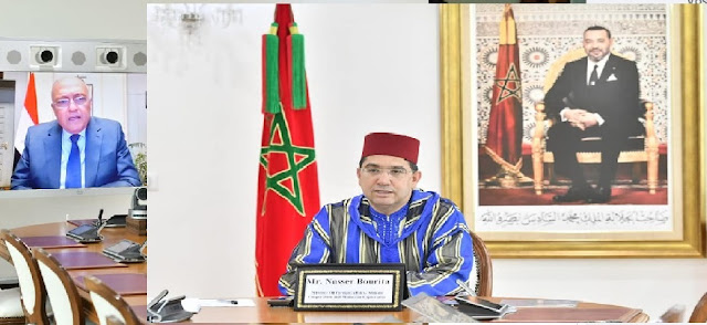 M. BOURITA s'entretient avec son homologue Égyptien et discutent les moyens de promouvoir le renforcement des relations entre les deux pays