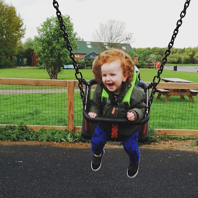 Mini from Thrice Upon a Dream on swings
