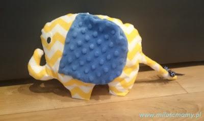 Zabawki szyte z materiału- słoń