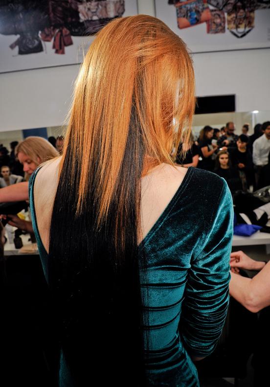 Ombre Hair Orange Eyebrows Pradas Autumn 2012 Beauty The Front