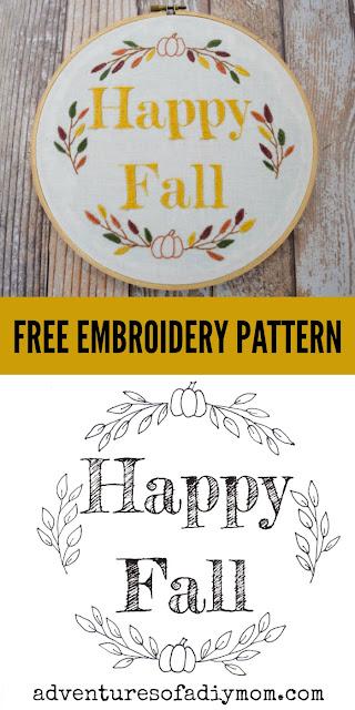 free fall embroidery pattern