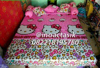 Sofa bed Inoac motif Hello Kitty pink inoactasik