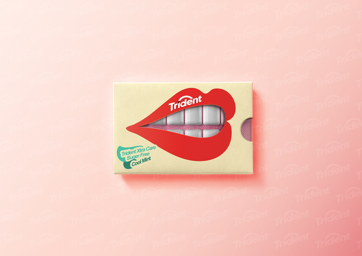 Trident Gum Concept On Packaging Of The World Creative Package