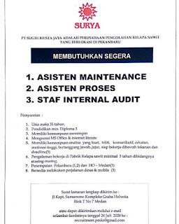 3 Lowongan di PT Sugih Riesta Jaya