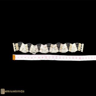 Gri Siyah Boru Takım bileklik ölçü - Nihal'in Rüyası