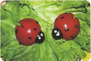 божьи коровки и= помидоров как сделать